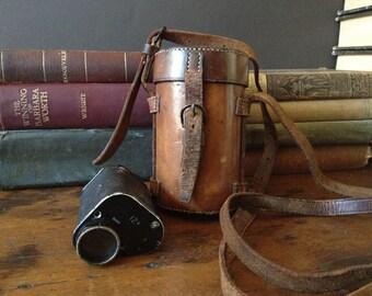 Hunting Monocular 12x Leather Case JA O Donahue 1940s