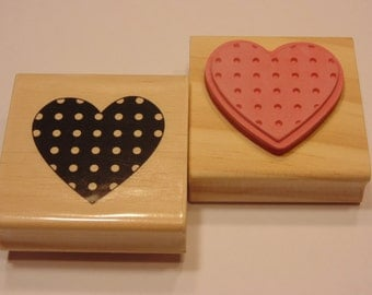 large heart rubber stamp, 45 mm (HR30)
