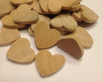 10 wood hearts, 20 mm