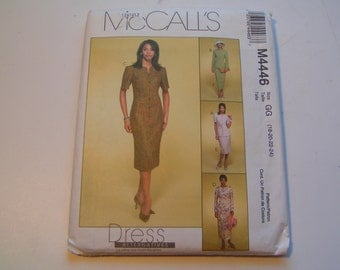 McCalls Pattern M4446 Miss Lined Jacket Lined Dresses and Skirt