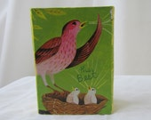 Yellow Bird Collage on Wooden Block  *One of a Kind*