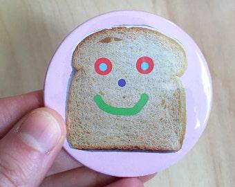 "Happy Toast 2.25"" pinback button"