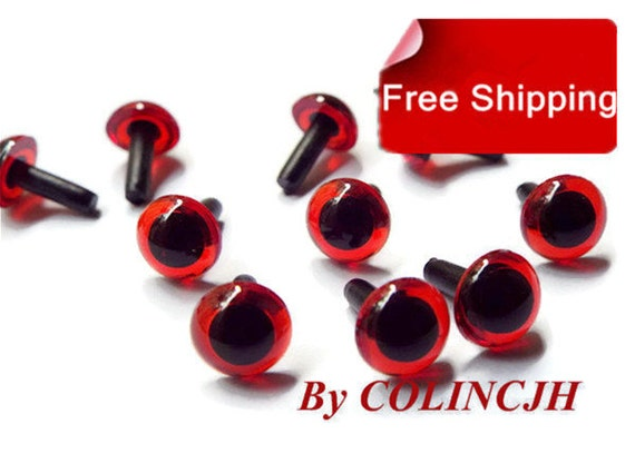 Craft Safety Eyes Amigurumi : 9mm Colored Safety Eyes / Plastic Eyes Amigurumi by COLINCJH