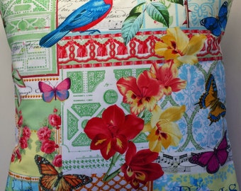 """Cushion Cover in Michael Miller Journal 16"""""""