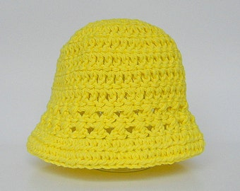 Adult To Newborn Yellow Hat 2 3 4 5 Years Old Toddler Preteen Girl  Spring Cotton Cap 3 9 12 15 18 24 Months Boy Summer Beanie Ready To Ship