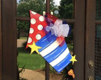 Fourth of July Firework Door Hanger