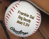 HUGE SALE Ring Bearer Gift, Personalized Baseball, Custom Wedding Gift, Engraved Baseball Gift for Ring Bearer