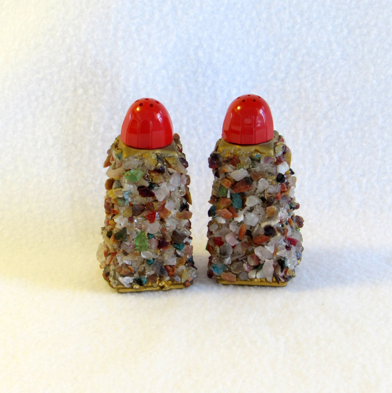 Decorative Salt And Pepper Shakers Pebbles Rocks Stones