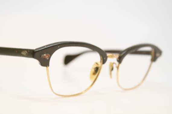 Gold Filled Eyeglass Frames : Vintage Cat Eye Glasses 1/10 12k Gold filled vintage Eyewear