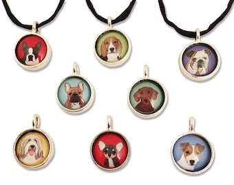 Pop Art Dog Breed Pendant