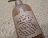 VEGAN-Dandruff-Free Herbal Shampoo 8oz. read tips on alleviating flakes & itching