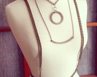Brass Chain Harness Suspender Body Chain