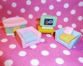 Pastel Furniture Eraser Set