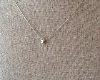 Puffy Star Necklace~polished rhodium