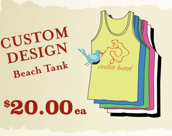 Custom Neon Beach Tanks // Personalized Bachelorette Tanks neon // Custom Designed Tanks // Personalized Bridal Party Shirts