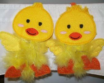 Baby Chick - Yellow Easter Chick - Embroidered Felt Headband