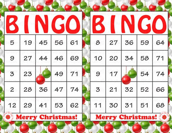 "Christmas"" Holiday Bingo Cards - DIY Printable Game for Christmas ..."