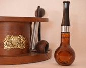Vintage Smoking Pipe Decanter-Avon Spicy After Shave-Manly Scent-Tobacciana Theme Décor-Thoughtful Father's Day Present-Husband-Boyfriend