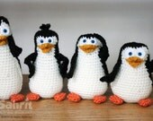 PATTERN Instant Download O-So-Cute Penguins Crochet Amigurumi