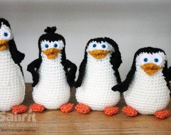 PATTERN Instant Download O-So-Cute Penguins Crochet Amigurumi