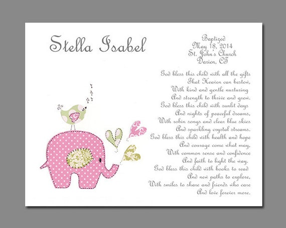 Baptism Gift from Godparents Baby Girls by SnoodleBugs on Etsy