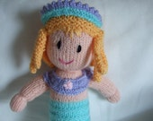 Hand Knitted Mermaid Doll Soft Toy,suitable from Birth.Baby Shower gift,Holiday gift,Birthday gift,Christmas gift