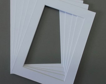 Pack of 25 5x7 Picture Mats With Openings for 4x6 Pictures-30 Colors to Choose From