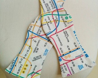 Manhattan Subway Map Bow Tie - LIMITED EDITION