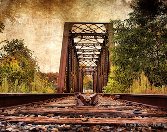 Railroad Trestle Bridge, Photography, Railroad Photography, Train Photography, Landscape Photography