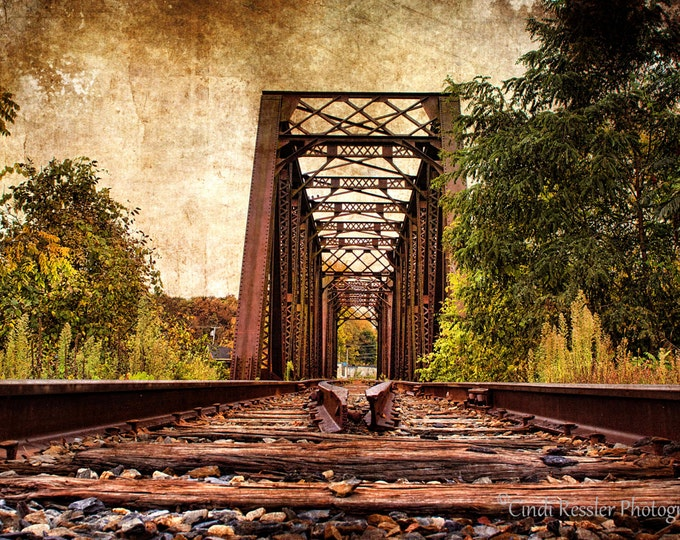Railroad Trestle Bridge, Photography, Railroad Photography, Train Photography, Landscape Photography