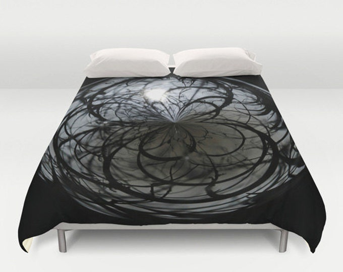 Mysterious Duvet Cover, King Duvet, Queen Duvet, Full Duvet, Bedroom Decor, Bedding, Digital Art