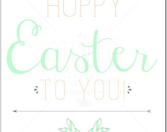 Hoppy Easter Print - Digital Download