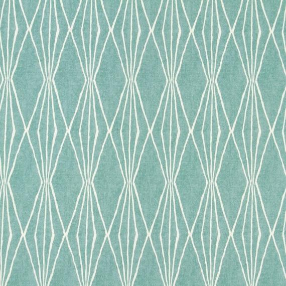 Aqua Upholstery Fabric - Geometric Design Fabric - Home Decor Aqua ...