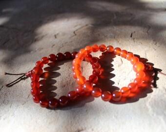 Carnelian Mala/Power Bead Bracelet