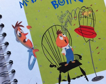 Gerald McBoing Boing by Dr Seuss Little Golden Book Upcycled Journal Notebook