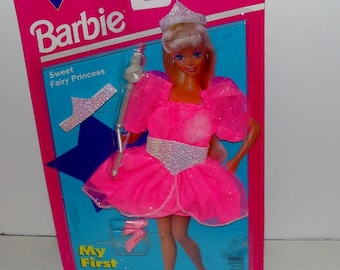 Barbie Fashion Outfit Sweet Fairy Princess Outfit by Mattel with Wand and Sparkling Tiara