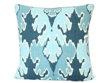 Kelly Wearstler Bengal Bazaar Designer Pillow Cover in Teal