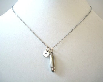 Personalized Bullet Necklace