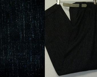 1950s Pants / 33 W / Flecked / Atomic / Hollywood Waist / Drop Loops / Rockabilly / 1950s Trousers / Vintage Mens Pants / Rockabilly Pants