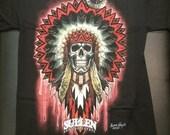 Black Mandala Skull T-Shirt