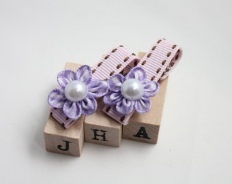 Children/girls/baby hair clip - flower pearl hair clips
