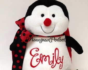 """Emily - Already Personalized - 16"""" Plush Red Ladybug Stuffed Animal - Ready To Ship"""
