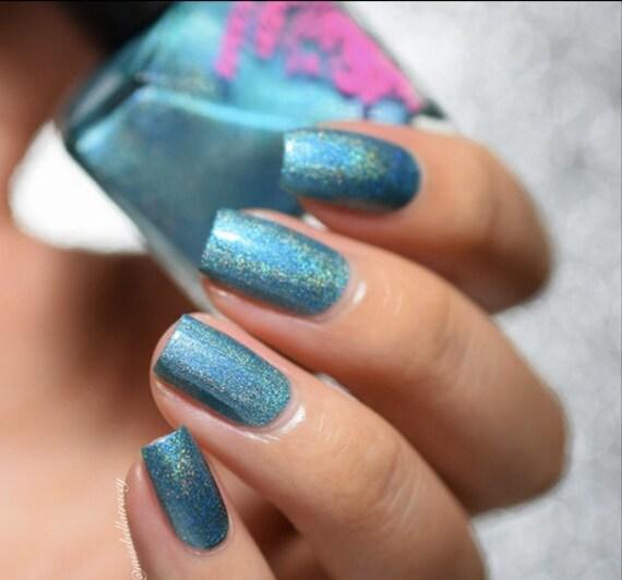 Splice Nail Polish Turquoise Neon Chrome By