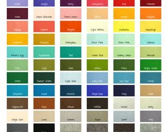 "100 Percent Wool Felt Sheets -  10 Sheets of 8"" X 12"" Felt - You Pick Color - Merino Wool Felt - European Wool Felt"