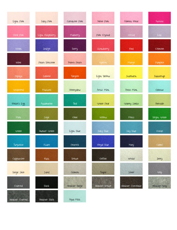 "100 Percent Wool Felt Sheets -  10 Sheets of 8"" X 12"" Felt - You Pick Color - Merino Wool Felt - European Wool Felt"