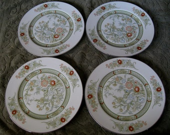 Mikasa Kabuki  Bread plates  Platinum Trim Very good Set of 4 included. Two sets available