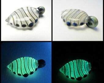 Glow in the Dark Glass Pendant - Antimatter