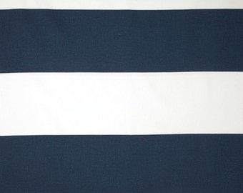 1/2 yard Cabana Stripe Premier Navy Blue / White - Home Decor  - Premier Prints  - Rugby Stripes
