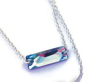 Swarovski Necklace, Rectangle Necklace, Choker, Geometric Jewelry, Custom Necklace, For Her