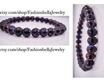 Men's glass beads bracelet
